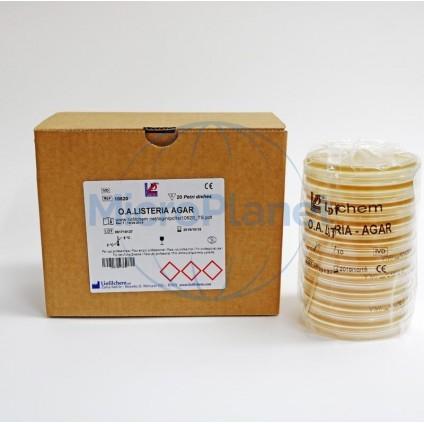 OA LISTERIA AGAR, placa 90 mm. c/20 unid. (ISO 11290)