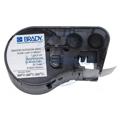 MC1-1000-595-WT-BK VINILO BRADY BLANCO