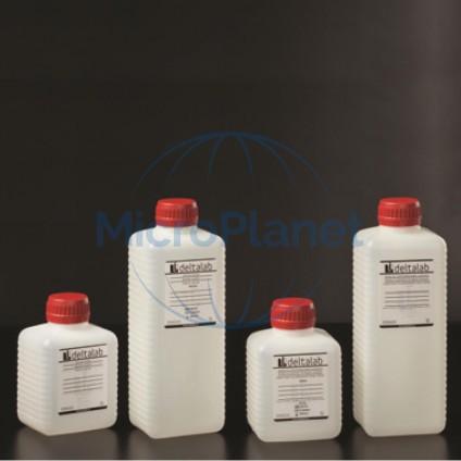 FRASCO ESTÉRIL 1000 ml con tiosulfato en PE blanco opaco, con tapón y sellado, c/68 unid.