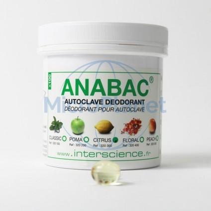 DESODORANTE PARA AUTOCLAVE ANABAC® CITRUS (limón) c/100 perlas