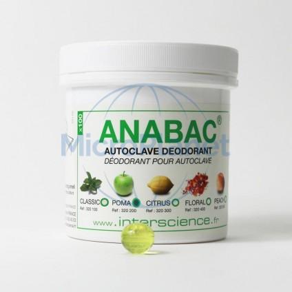 DESODORANTE PARA AUTOCLAVE ANABAC® MANZANA c/100 perlas