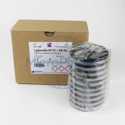 LEGIONELLA BCYE + AB AGAR, placa 90 mm. c/20 unid. (ISO 11731: 2017)