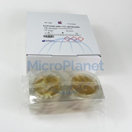 PLATE COUNT AGAR (PCA)+TTC+NEUTRALIZANTE, placa rodac, c/20 unid.
