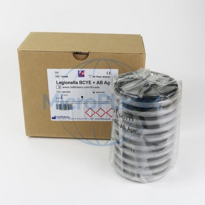 LEGIONELLA GVPC AGAR, placa 90 mm. c/ 20 unid. (ISO 11731-1)