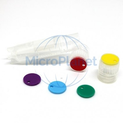 EPPi® disco inserto color BLANCO para EPPi® Cryo Tubes c/10x100 pcs