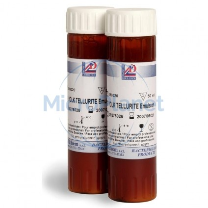 EGG YOLK TELLURITE EMULSION 20% , c/ 4x50 ml (ISO 6888-1 y 3)