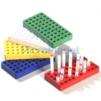 EPPi® gradilla BLANCO para 5x10 Cryo tubos PC c/ 4 unid.