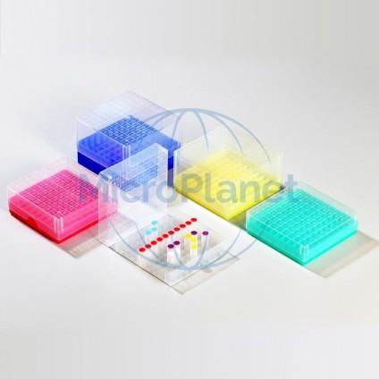 EPPi® CRIOCAJA PP AZUL, Mod. EPPI20BU, polipropileno, tubo 5.0mL, divisiones 10x10