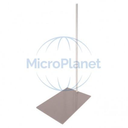 SOPORTE DE PIE, con plato 250x160 mm y varilla inox. 10x600mm