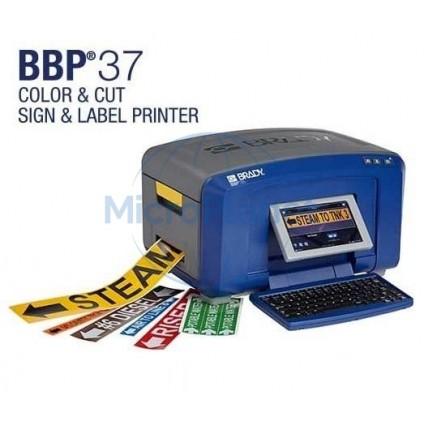 IMPRESORA BRADY Mod. BBP37-QWERTY-EU etiquetas multicolor y cutter para señalética.