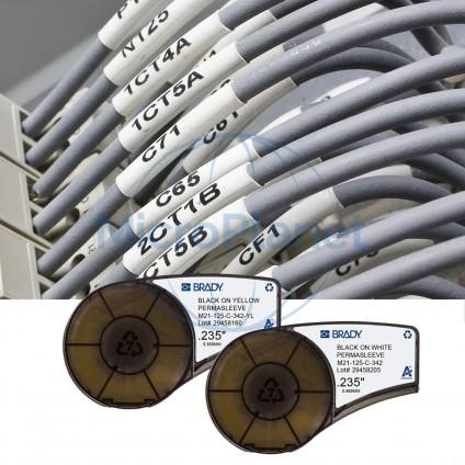M21-125-C-342-YL ETIQUETA BRADY  PERMASLEEVE termocontráctil para LABPAL/ BMP21