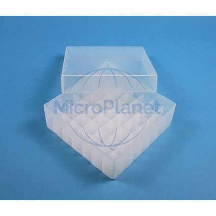 EPPi BOX CAJA CONGELACIÓN 130x130 mm en PP NATURAL, gradilla interna 7x7, c/1 unid.