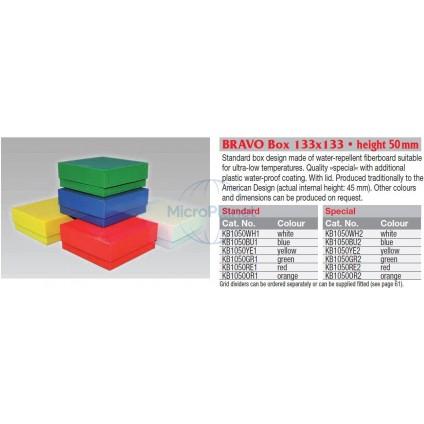 BRAVO BOX STANDARD, CAJA CRIOCONGELACIÓN CARTÓN BLANCO, sin gradilla - Alto 50mm